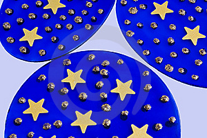 Blue Glass With Stars Royalty Free Stock Photography - Image: 11151007