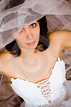 Look From Under Veil Stock Image - Image: 11155971