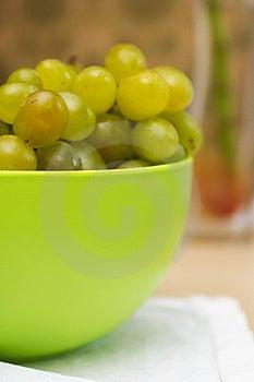 Green Basin Of Ripe Green Grapes Royalty Free Stock Photo - Image: 1128575