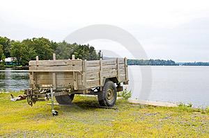 Wooden Utility Trailer Royalty Free Stock Photo - Image: 1128785