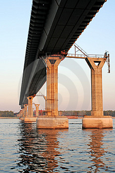 Piers Of Building Bridge Royalty Free Stock Image - Image: 1131656