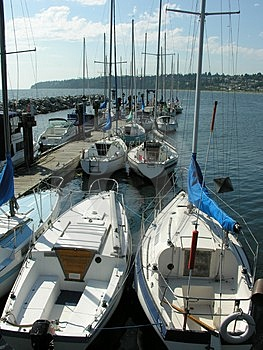Docked Boats Stock Images - Image: 1133714