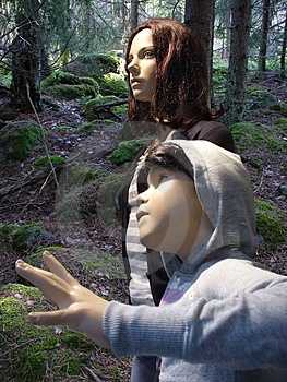 Dummies Lost In Forest Stock Image - Image: 1133911