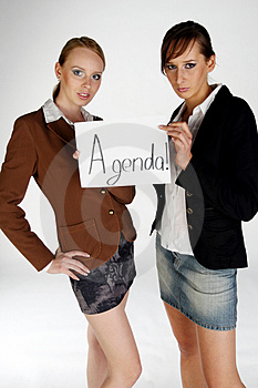 Thinking An Agenda Royalty Free Stock Images - Image: 1135829
