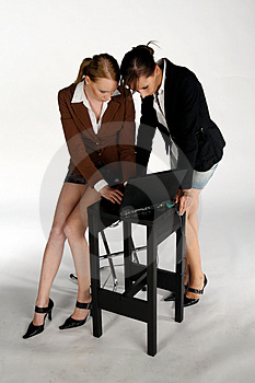 Meninas De Funcionamento Foto de Stock Royalty Free - Imagem: 1135875