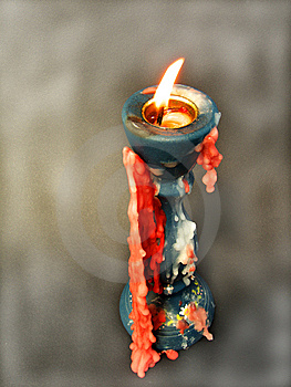 Home Made Wooden Candle Stick Royalty Free Stock Photos - Image: 11300748