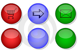 Website internet button set Royalty Free Stock Photo