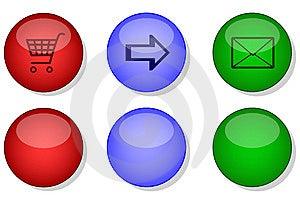 Websiteinternet-Knopfsatz Lizenzfreies Stockfoto