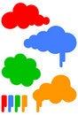 Cartoon cloud vector illustration set