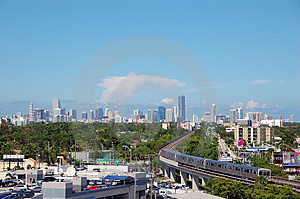 Daytime Skyline View Of Miami Stock Photography - Image: 1142692