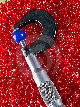Micrometer With Beads And Balls Stock Image - Image: 11402221