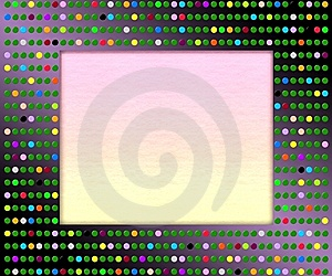 Disco Picture Frame Royalty Free Stock Photography - Image: 11439227