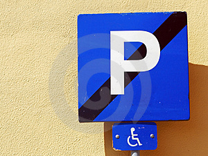 Handicap Parking Place Stock Photography - Image: 1153672