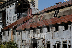 Rusted Out Ship Yard Building Royalty Free Stock Images - Image: 1156599