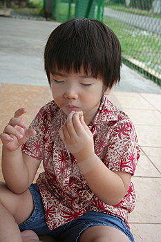 Αγόρι που τρώει τα μπισκότα Στοκ Εικόνες - εικόνα: 1157850