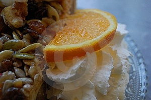 Whip Cream With Pie And Orange Stock Images - Image: 11554174