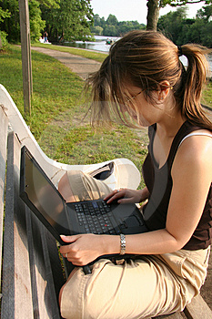 Student Working On Laptop Royalty Free Stock Photos - Image: 1164658