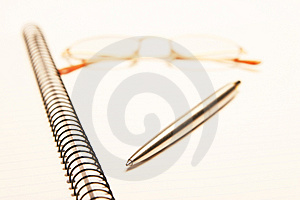 Pen Pad Glasses Royalty Free Stock Photos - Image: 1166118
