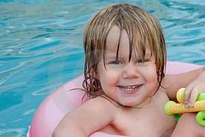 Wet Little Girl Royalty Free Stock Photos - Image: 1166658