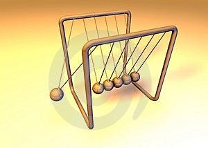 Orange 3d Pendulum Stock Images - Image: 1167184