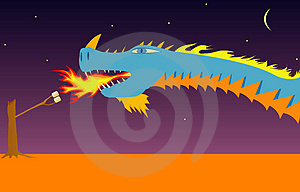 Dragon Illustration Stock Photo - Image: 1169480