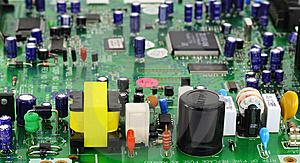 The  Printed-circuit Board With Elements Royalty Free Stock Photos - Image: 11644748