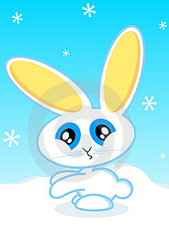 Holiday Bunny Vector Illustration Royalty Free Stock Image - Image: 11681646