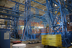 Inside Aerospace Production Facility Stock Images