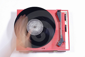 Red Record Player Royalty Free Stock Images - Image: 1175969