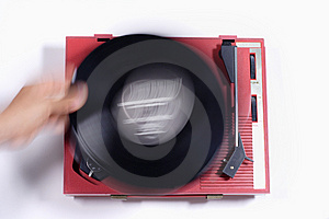 Red Record Player Stock Photo - Image: 1175970