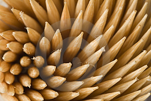 Swirly  Toothpicks Royalty Free Stock Image - Image: 1176676