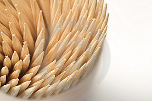 Swirly  Toothpicks Stock Images - Image: 1176714