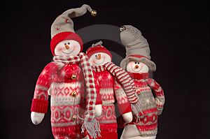Snowpeople I Stock Photo - Image: 1177170