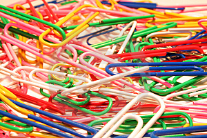Stock Photography - Paper clips