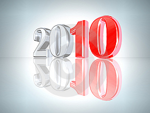 New Year 2010 Background Free Stock Image