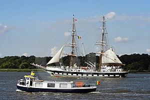 Parading Ships Royalty Free Stock Image - Image: 1181636