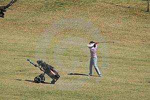 Golf Swing Royalty Free Stock Image - Image: 1183586