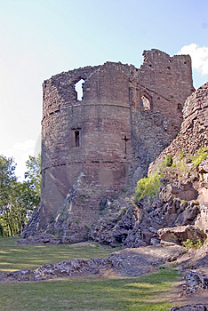 Ladies Tower At Goodrich Castle Royalty Free Stock Photography - Image: 1188357