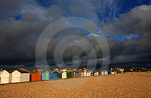 Beach Huts With Stormy Sky Stock Images - Image: 11816864