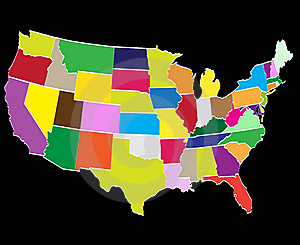 Counties of america Free Stock Photography