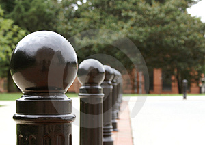 Row Of Posts Royalty Free Stock Images - Image: 1192279