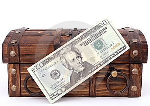 Money chest Royalty Free Stock Image