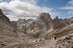 Trekkers In The Dolomites,Italy Stock Images - Image: 1193724