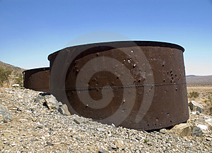 Rusty Storage Drums Stock Photo - Image: 1198280