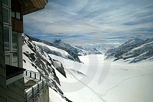 Alpine View From The Lodge Royalty Free Stock Photos - Image: 11945228