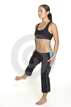Side Leg Raise 4 Stock Photos