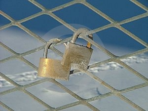 A Pair Of Padlocks Free Stock Photography