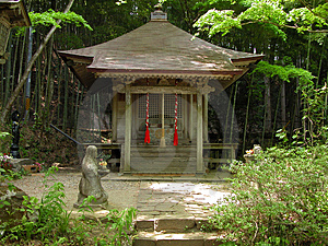 Japanese Little Shrine Free Stock Photo