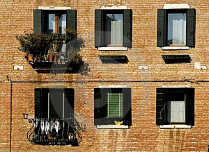 Windows Of Venice Free Stock Images