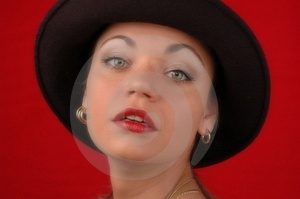 Woman In Hat - Soft Focus Stock Images